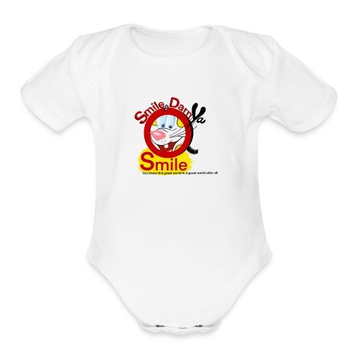 Smile Darn Ya Smile - Organic Short Sleeve Baby Bodysuit