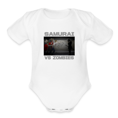 Samurai vs Zombies - Organic Short Sleeve Baby Bodysuit