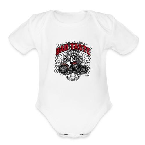 Biker Chick - Organic Short Sleeve Baby Bodysuit