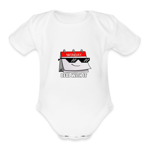 monday - Organic Short Sleeve Baby Bodysuit