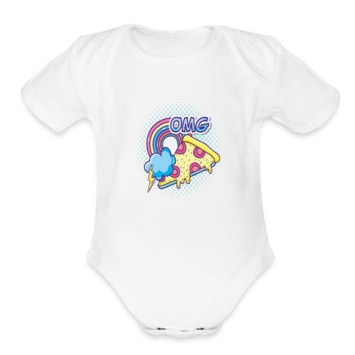 PIZAA - Organic Short Sleeve Baby Bodysuit