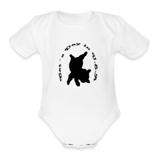 Cat´s Day in USA - Organic Short Sleeve Baby Bodysuit