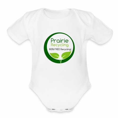 Prairie Recycling Official Logo - Organic Short Sleeve Baby Bodysuit
