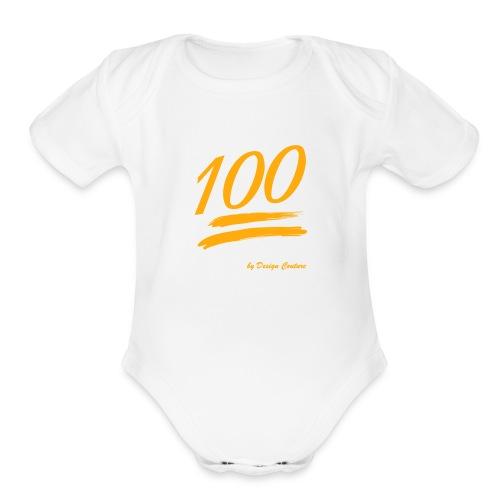 100 ORANGE - Organic Short Sleeve Baby Bodysuit