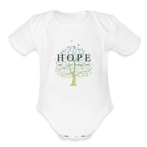 hope - Organic Short Sleeve Baby Bodysuit