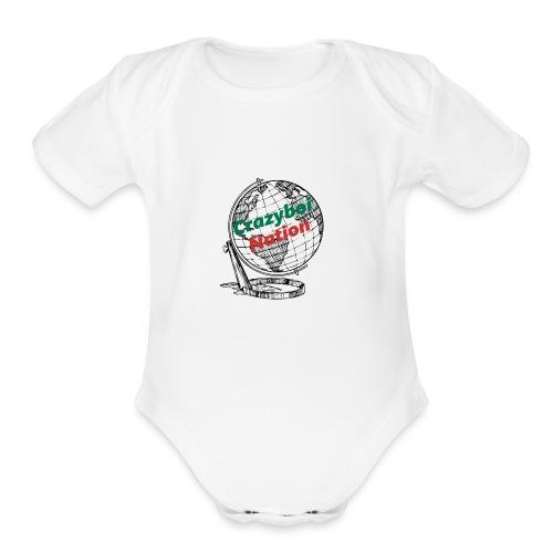 CrazyboiNation2 - Organic Short Sleeve Baby Bodysuit