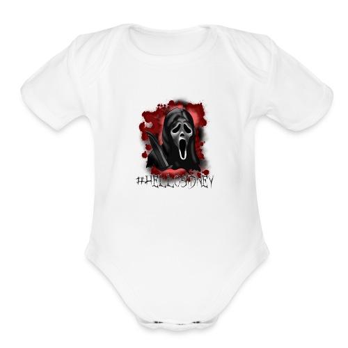 He's back!! - Organic Short Sleeve Baby Bodysuit