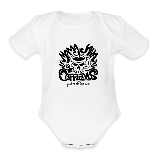 Mama Java & The Caffeinds Rock Band - Organic Short Sleeve Baby Bodysuit