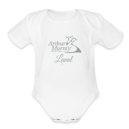 AML Logo2018 LightGrey - Organic Short Sleeve Baby Bodysuit