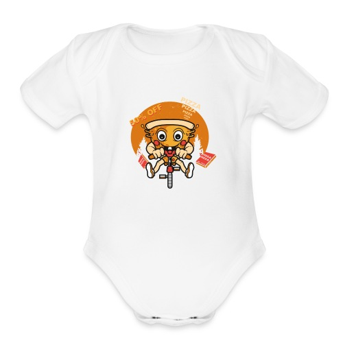 PIZZA 50 off - Organic Short Sleeve Baby Bodysuit