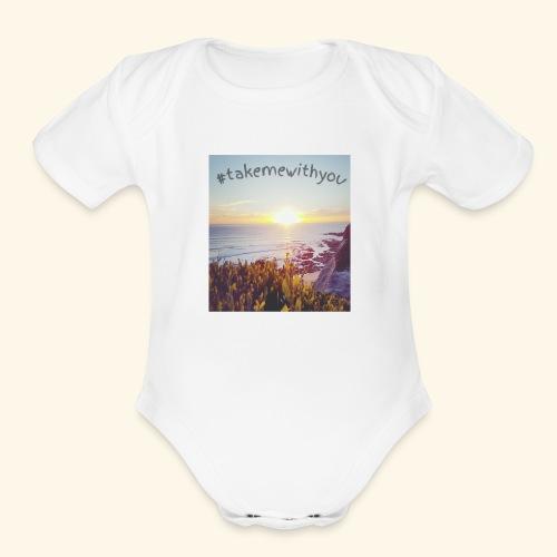 Take me - Organic Short Sleeve Baby Bodysuit