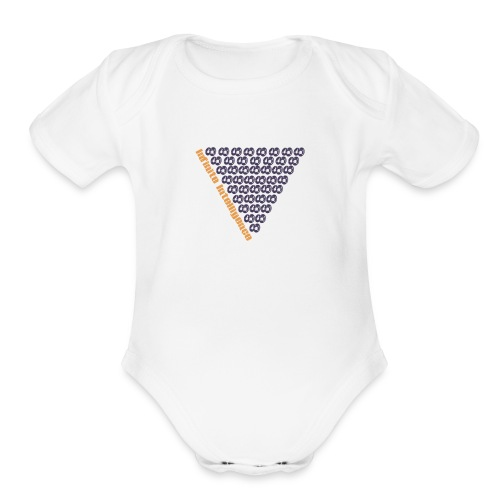 infinite intelligence - Organic Short Sleeve Baby Bodysuit