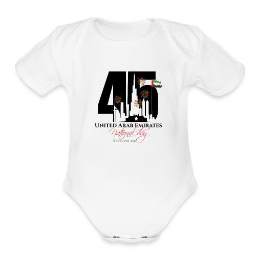 UAE 45 National Union Day - Organic Short Sleeve Baby Bodysuit