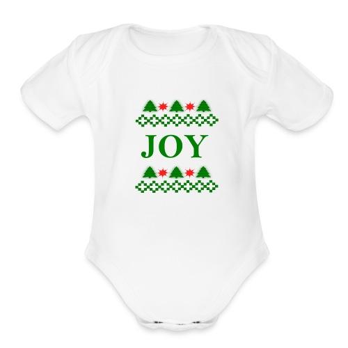 Christmas Joy - Organic Short Sleeve Baby Bodysuit
