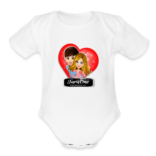 Love Heart Shirts - Organic Short Sleeve Baby Bodysuit