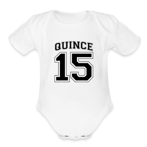 Quince 15 birthday - Organic Short Sleeve Baby Bodysuit