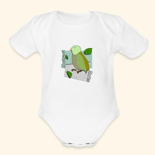 Little Bird Abstract Arts by Cc Arts Designs - Organic Short Sleeve Baby Bodysuit