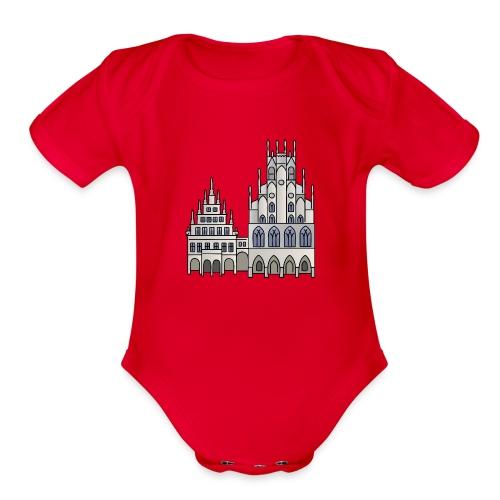 Town Hall Münster, Cityhall, Mayor - Organic Short Sleeve Baby Bodysuit