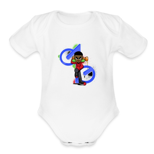 OBE1plays - Organic Short Sleeve Baby Bodysuit