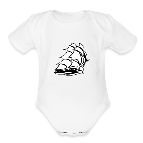 Old Tall Sailing Ship - Organic Short Sleeve Baby Bodysuit