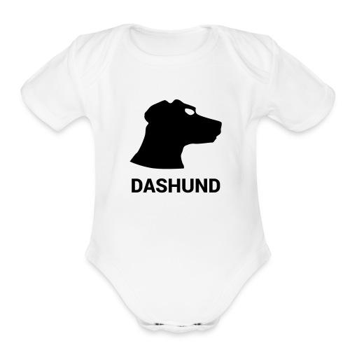 DASHUND - Organic Short Sleeve Baby Bodysuit