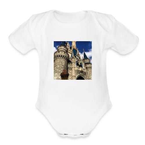 Cinderella's Castle - Organic Short Sleeve Baby Bodysuit
