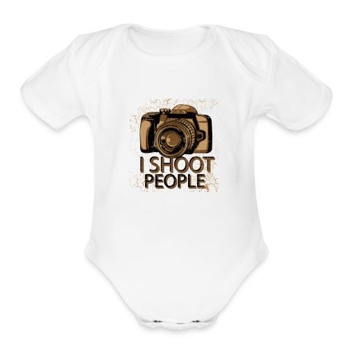 I shoot people - Organic Short Sleeve Baby Bodysuit