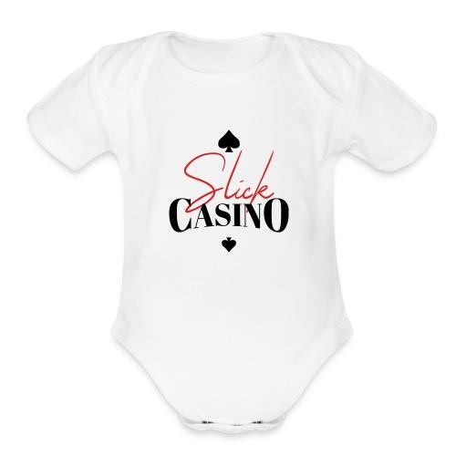 Slick Casino Logo - Organic Short Sleeve Baby Bodysuit