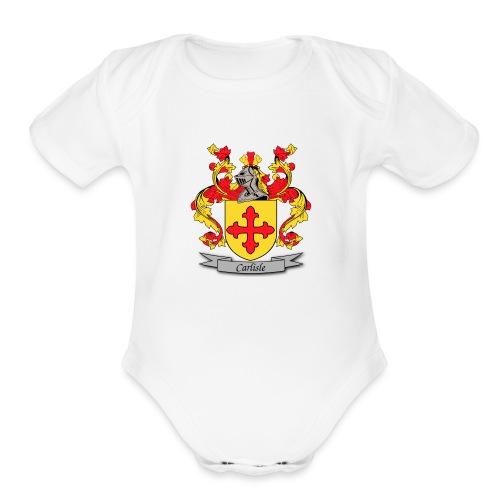 Carlisle Family Crest - Organic Short Sleeve Baby Bodysuit