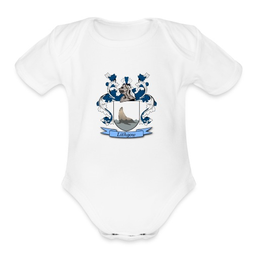Lithgow Family Crest - Organic Short Sleeve Baby Bodysuit