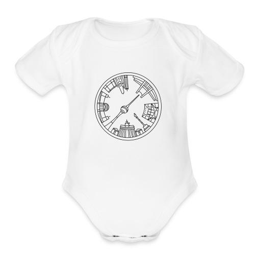 Berlin emblem - Organic Short Sleeve Baby Bodysuit