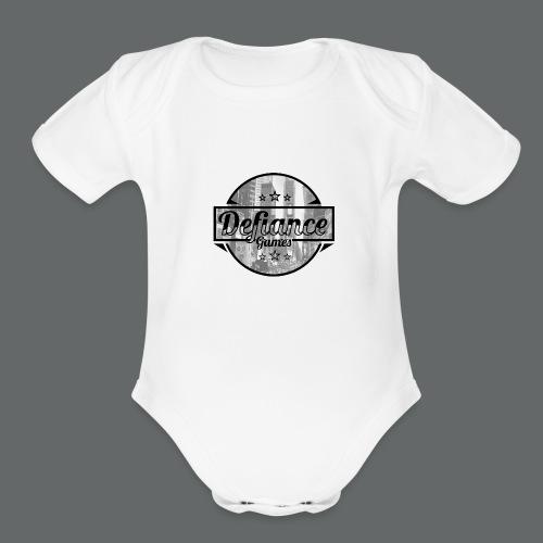 Defiance Games Street Logo Shirt - Organic Short Sleeve Baby Bodysuit