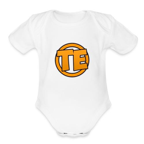 TechElement Logo Official - Organic Short Sleeve Baby Bodysuit