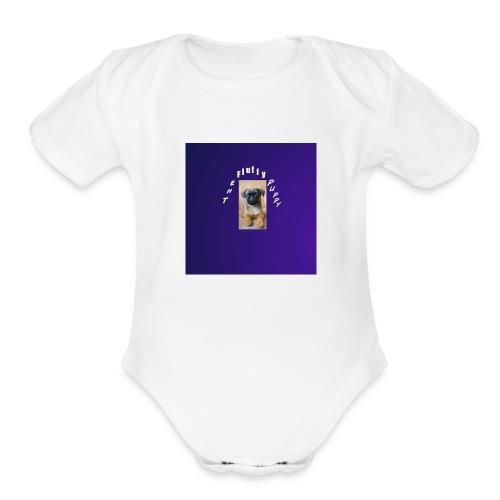 Puppy #1 - Organic Short Sleeve Baby Bodysuit