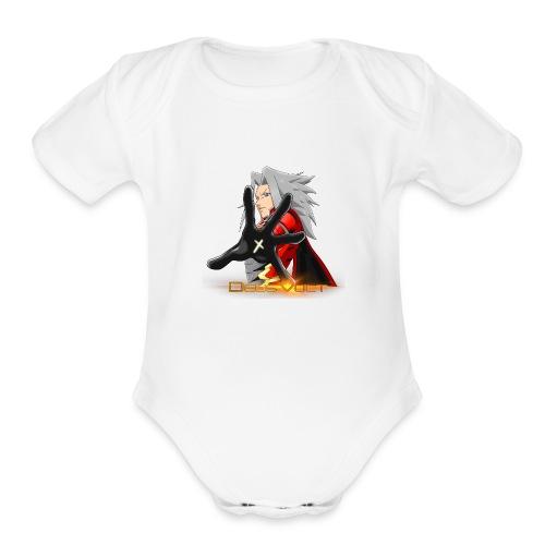 Nova Sera Deus Vult Promotional Image - Organic Short Sleeve Baby Bodysuit