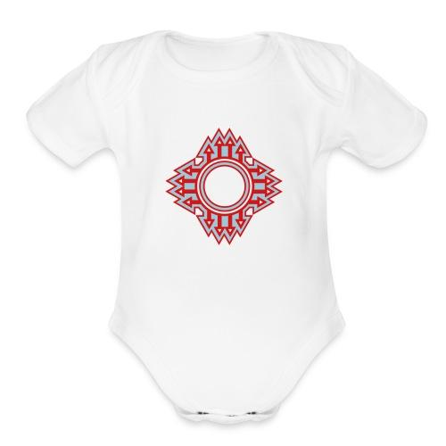 New Mexico Zia Symbol Streetwear - Organic Short Sleeve Baby Bodysuit
