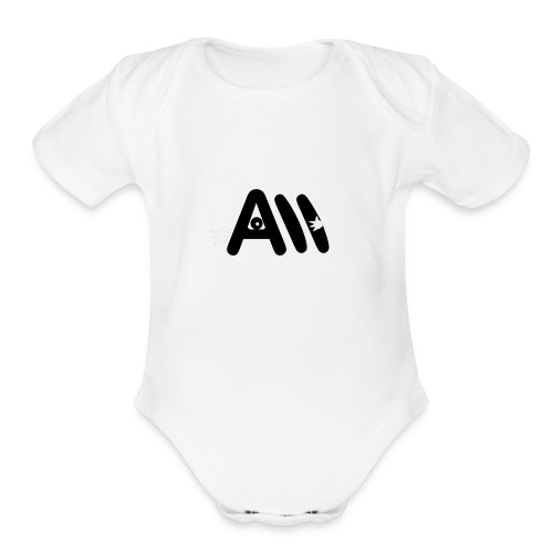 Artist Monster Logo - Organic Short Sleeve Baby Bodysuit