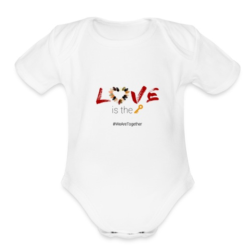Love Is The Key - Organic Short Sleeve Baby Bodysuit