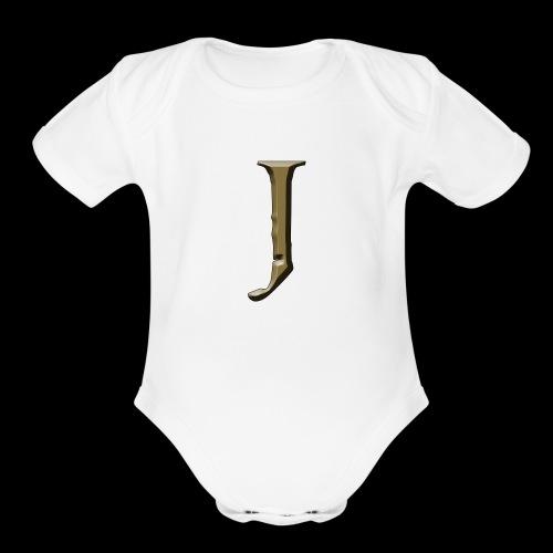 J - Organic Short Sleeve Baby Bodysuit
