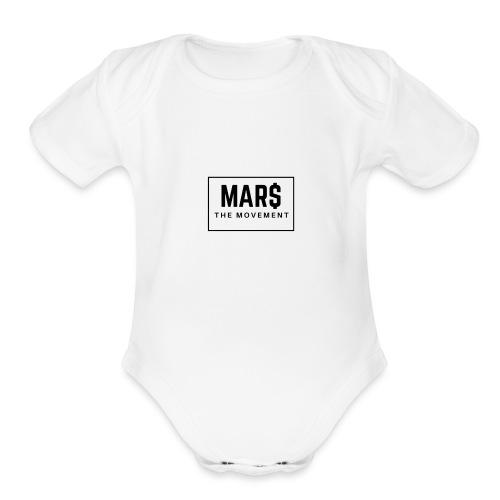 MAR$ Orginal White T-Shirt - Organic Short Sleeve Baby Bodysuit