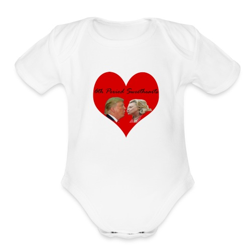 6th Period Sweethearts Government Mr Henry - Organic Short Sleeve Baby Bodysuit