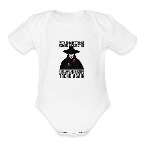 VENDETTA - Organic Short Sleeve Baby Bodysuit