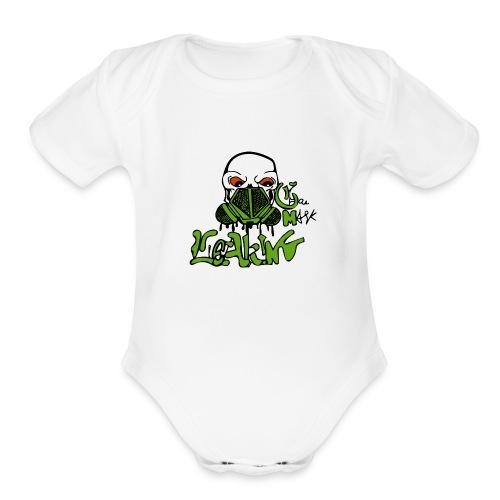 Leaking Gas Mask - Organic Short Sleeve Baby Bodysuit