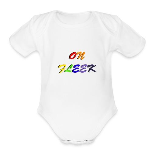 On Fleek -PACER- - Organic Short Sleeve Baby Bodysuit