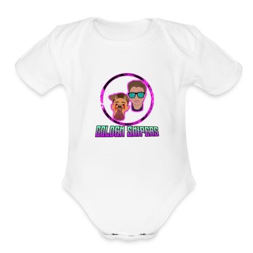 merch_logo - Organic Short Sleeve Baby Bodysuit
