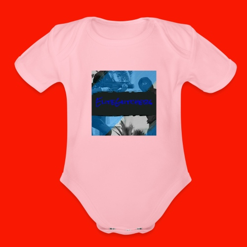 EliteGlitchersRevamp - Organic Short Sleeve Baby Bodysuit