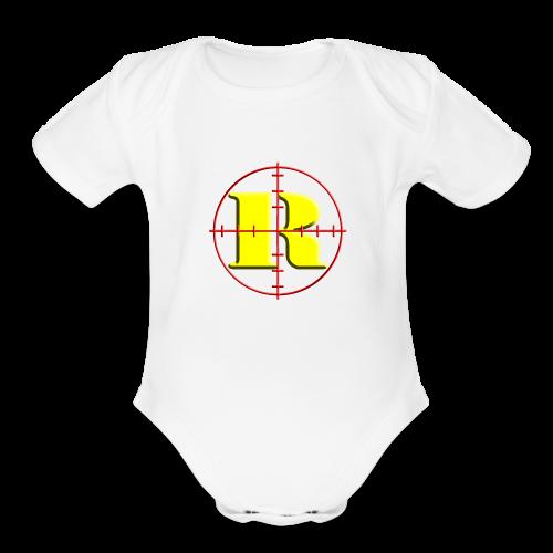 Kids Remington Logo - Organic Short Sleeve Baby Bodysuit