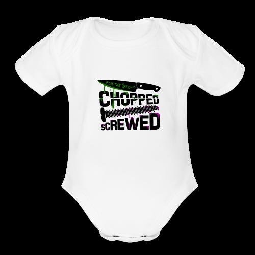 Chopped and Screwed - Organic Short Sleeve Baby Bodysuit