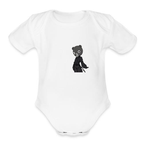 Jinnosuke Stand off pose - Organic Short Sleeve Baby Bodysuit
