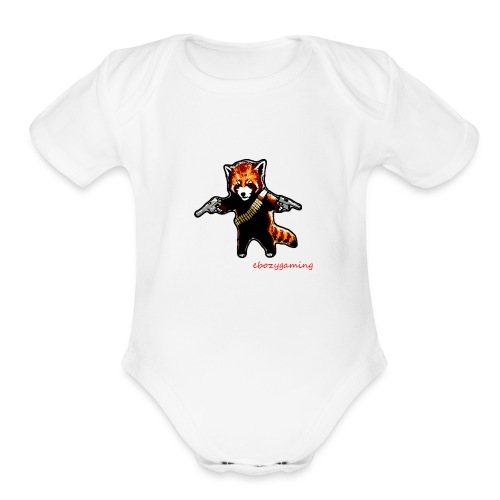 ebozygaming signature T-SHIRT - Organic Short Sleeve Baby Bodysuit